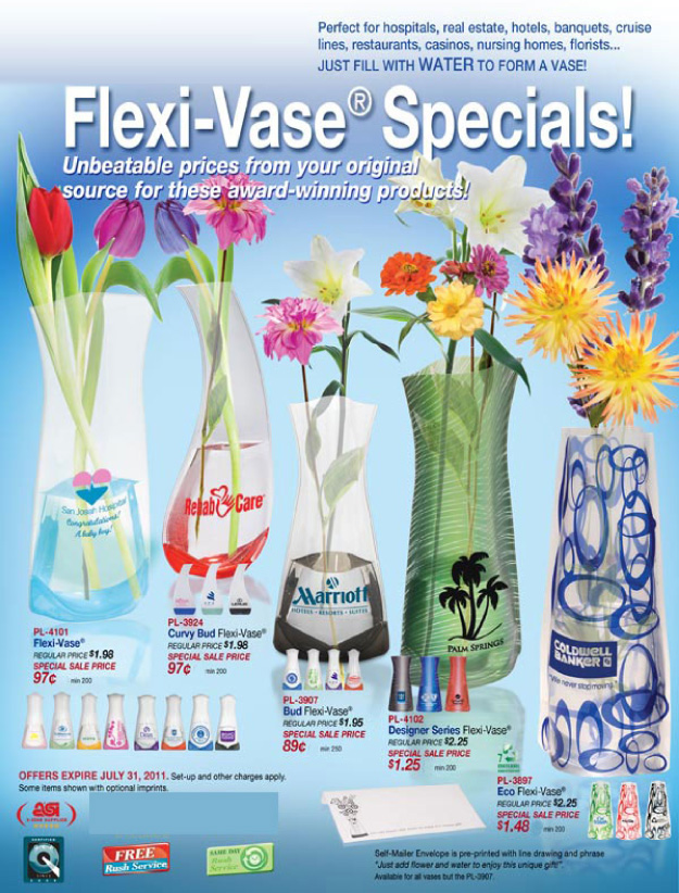 A Vase Anytime With Your Custome Logo And Message On Sale